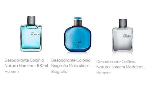 Desodorante Colônia Natura Homem - 100ml + Desodorante Colônia Biografia Masculino 100ml + Desodorante Colônia Natura Homem Madeiras Homem 100ml