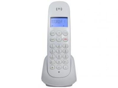 Telefone Sem Fio Motorola MOTO700-W - Identificador de Chamada Branco - Magazine Ofertaesperta