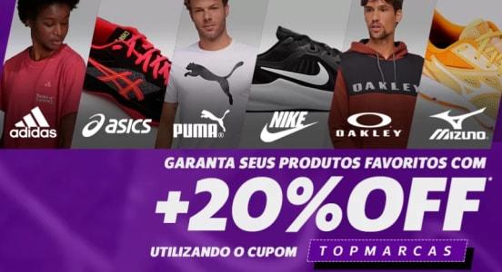 Cupom TOPMARCAS de 20% de Desconto em Produtos Selecionados!