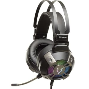 Headset Gamer Husky Storm, USB, 7.1 Surround, Driver 50mm, Rainbow - HS-HST-RA