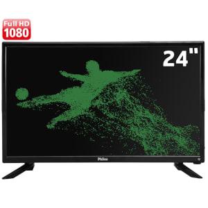 """Smart TV LED 24"""" Full HD Philco PTV24N91SA com Processador Quad-core, Midiacast, Som Surround, HDMI e USB"""