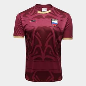 Camisa Russia s/n° Lotto Edição Limitada Masculina - Vinho e Dourado