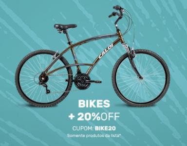 Seleção de Bicicletas com + 25% de Desconto usando o Cupom PROMO25!