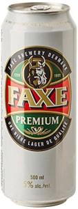 5 Unidades - Cerveja Faxe Premium Lata 500ml cada