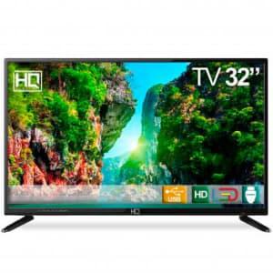 """TV LED 32"""" HQ HQTV32 Resolução HD com Conversor Digital 3 HDMI 2 USB Recepção Digital - Magazine Ofertaesperta"""