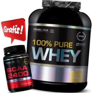 Kit 100% Pure Whey 2kg + Bcaa 2400 Probiotica
