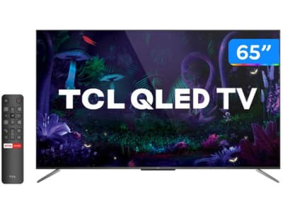"Smart TV 4K QLED 65"" TCL C715 Android - Wi-Fi Bluetooth HDR 3 HDMI 2 USB - Magazine Ofertaesperta"