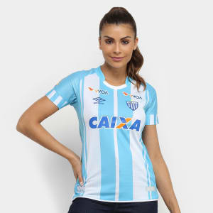 Camisa Avaí I 17/18 s/n° - Torcedor Umbro Feminina - Azul e Branco