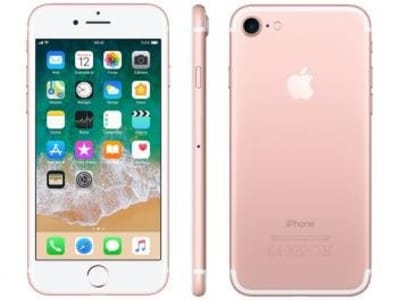 "[Ouro ou preto] iPhone 7 Apple 32GB Ouro Rosa 4G Tela 4.7"" Retina - Câm. 12MP + Selfie 7MP iOS 11 Proc. Chip A10"