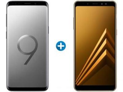 Galaxy S9 128GB + Galaxy A8 Plus 64GB - Várias Cores