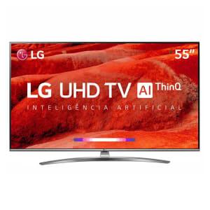 "Smart TV LED 55"" 4K LG 55UM7650 4 HDMI 2 USB Wi-Fi Bluetooth"