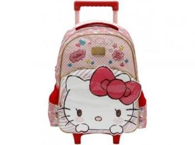 Mochila Infantil Escolar Feminina Hello Kitty - de Rodinha Tam. G Xeryus Rosa - Magazine Ofertaesperta