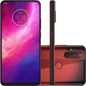 "Smartphone Motorola One Hyper 128GB Dual Chip Android Tela 6.5"" Qualcomm Snapdragon 4G Câmera 64MP + 8MP -  Vermelho Âmbar"