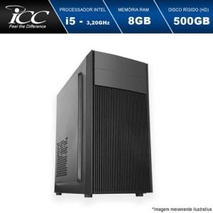 Computador Desktop ICC IV2581SW Intel Core I5 3.20 ghz 8gb HD 500GB HDMI FULL HD Windows 10
