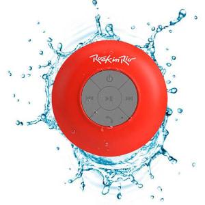 Caixa de Som Bluetooth Aquarius Rock in Rio Vemelha 3W RMS USB Resistente à Água