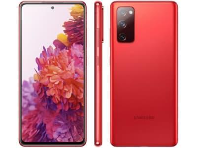 "Smartphone Samsung Galaxy S20 FE 128GB Cloud Red - 6GB RAM Tela 6,5"" Câm. Tripla + Selfie 32MP - Magazine Ofertaesperta"
