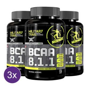 Kit 3x BCAA USA 8.1.1 Military Trail 120 Caps