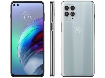 "Smartphone Motorola Moto G100 256GB Luminous Sky - 5G 12GB RAM 6,7"" Câm. Quádrupla + Selfie Dupla"