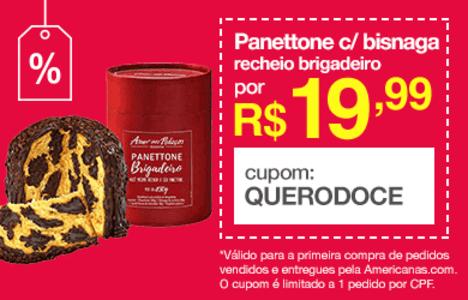 [Primeira Compra] Panettone Tradicional + Bisnaga