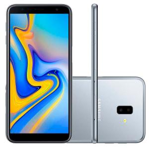 """Smartphone Samsung Galaxy J6+ Prata 32GB, Tela infinita de 6"""", Dupla Câmera Traseira, Câmera Frontal de 8MP, 3GB RAM, Dual Chip, Android 8.1"""