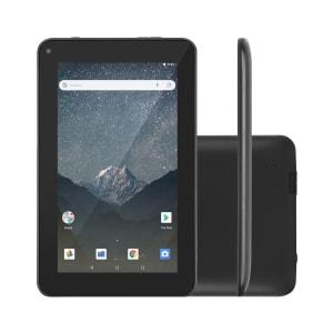 Tablet Multilaser M7 GO WI-FI 16GB Android Oreo Quad Core Tela 7 Pol. Câmera Traseira 2MP Frontal 1.3MP Preto