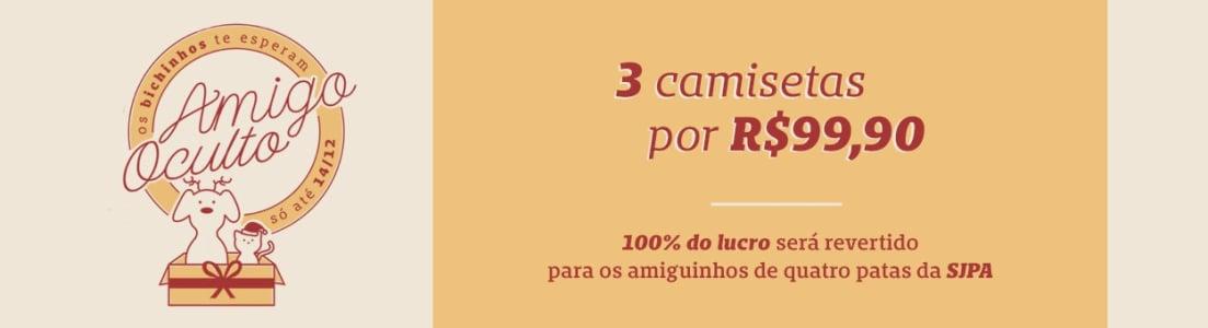 3 CAMISETAS POR R$99,90 - CHICO REI
