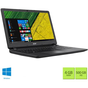 "Notebook Acer ES1-572-52M5 Intel Core i5 4GB 500GB 15.6"" Windows 10 - Preto"