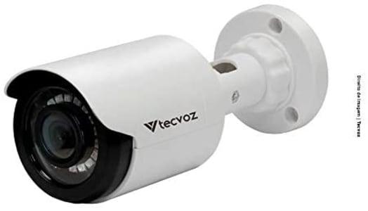 Câmera de Segurança Bullet Flex 1MP HD CB128P, Tecvoz, Branco