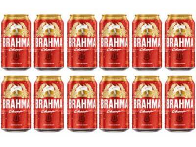 Cerveja Brahma Chopp Lager Pilsen 12 Unidades - 350ml - Magazine Ofertaesperta