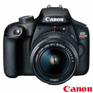 """Câmera Digital Canon EOS Rebel T100 DSLR com 18 MP, 3"""", Gravação em Full HD - T100 EF-S"""