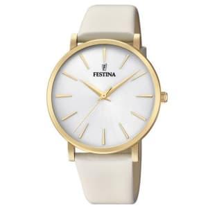 Relógio Festina Feminino Couro Branco - F20372/1