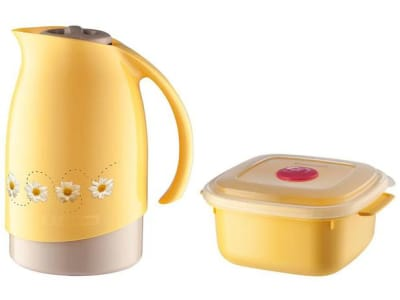 Bule de Chá e Café Térmico Amarelo com Pote 480ml - Sanremo Cuidar - Magazine Ofertaesperta