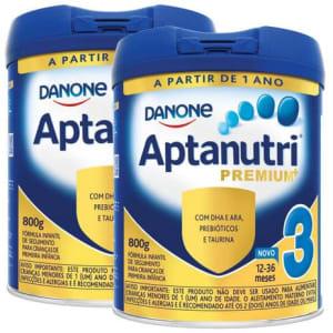 Kit com 2 Unidades de Fórmula Infantil Aptanutri Premium 3 - 800g