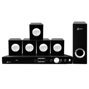Home Theater DVD Lenoxx USB Karaokê 270W RMS - HT723