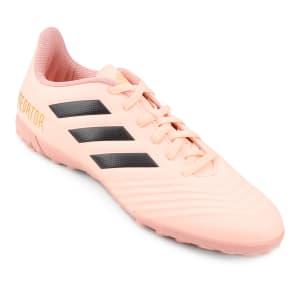 Chuteira Society Adidas Predator Tan 18 4 TF - Rosa e Preto