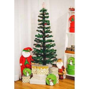 Árvore de Fibra Ótica Bivolt 1,50m + Ponteira Estrela Iluminada 19cm - Orb Christmas