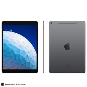 "iPad Air Space Grey com Tela 10,5"", Wi-Fi + 4G, 64 GB, Processador Chip A12 - MV0D2BZ/A"