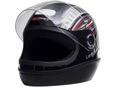 Capacete de Moto Fechado Taurus Fórmula 1 - Grafic Preto Tamanho 56 - Magazine Ofertaesperta