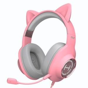 Headset Gamer Edifier G2II Pink Cat, RGB, 7.1 Virtual Som Surround, Drivers 50mm, Rosa - G2II