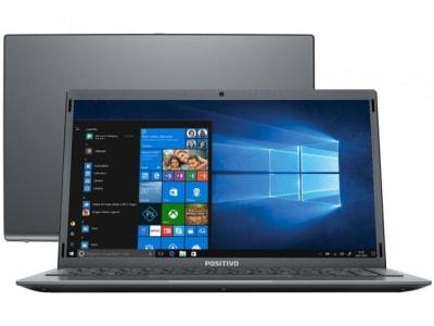 "Notebook Positivo Motion Gray Q4128C-S Intel Atom - 4GB 128GB eMMC 14,1"" LED Windows 10 - Magazine Ofertaesperta"