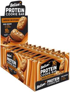 Cookie Bar Protein Amêndoas com Especiarias sem Açúcar sem Glúten sem Lactose Belive 40g - 10 Unidades