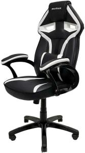 Cadeira Gamer MX1 Giratória Preto e Branco - Mymax, Mymax, 25.009042, Branco e preto