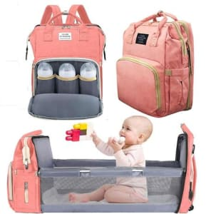 Bolsa Mochila Maternidade Com Berço Dobrável e Trocador De fraldas - Living Traveling Share - Magazine Ofertaesperta