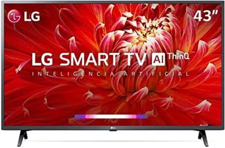 "Smart TV LED 43"" LG ThinQ AI Full HD 43LM6300PSB 3 HDMI"