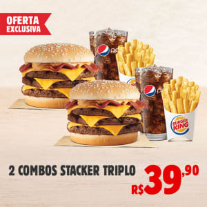 2 COMBOS STACKER TRIPLO E PAGUE R$ 39,90