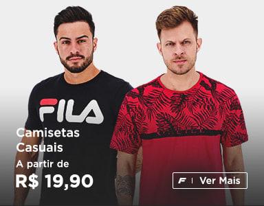 Camisetas Casuais a partir de R$ 19,90