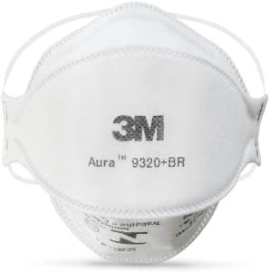 Respirador Descartável 3M™ Aura 9320+br – Pff-2 – Indicada Para Poeiras, Névoas e Fumos