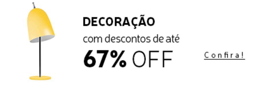 Produtos de Decoração com até 60% de Desconto