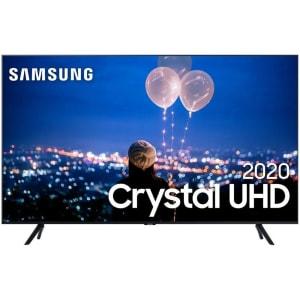 "Samsung Smart TV 50"" Crystal UHD 50TU8000 4K, Wi-fi, Borda Infinita, Alexa built in, Controle Único, Visual Livre de Cabos, Modo Ambiente Foto e Proce"