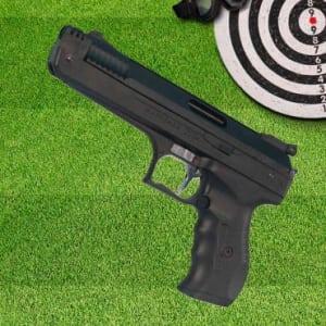 Pistola de Pressão 2004 para prática espotiva Calibre 4,5 mm Preta - Beeman